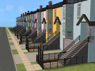Row of Victorian Houses