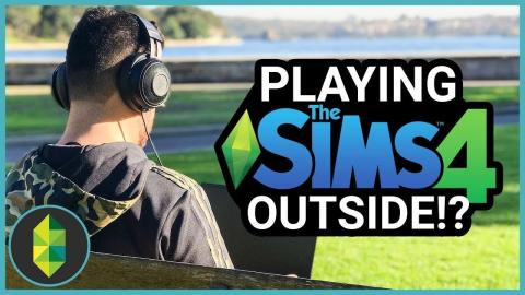 Playing The Sims 4 OUTSIDE (Sims 4 Challenge)