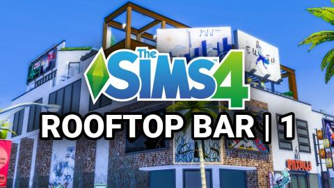 Rooftop Club Build in Sims 4 (Part 1)