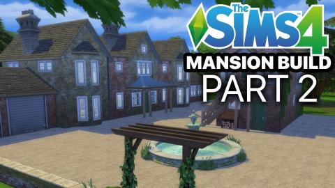 The Sims 4 - MANSION BUILD - Part 2 (Pool Shade & Floor Plan)