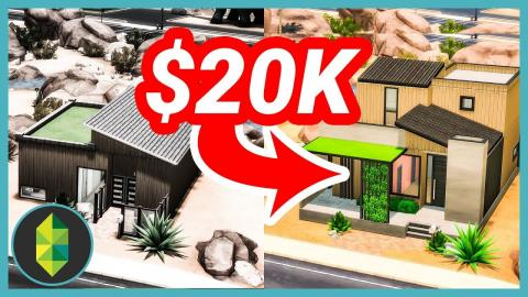 $20,000 CHALLENGE - I Fixed One of Deligracy's Builds (Sims 4 Build)