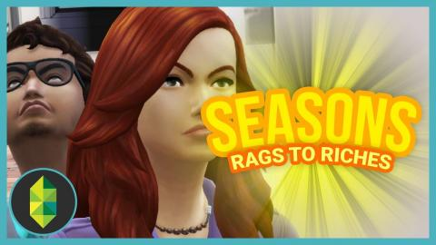 $10,000 FLOWERS - Part 34 - Rags to Riches (Sims 4 Seasons)
