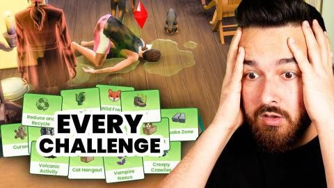I tried to play The Sims with every single lot challenge enabled