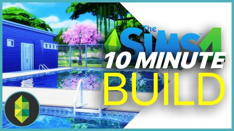 PUBLIC POOL 10 Minute Build Challenge | The Sims 4
