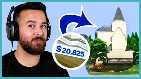I have $20,825 to build a house in The Sims