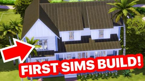My First EVER Build in Sims 4 (Checking out my old builds!)