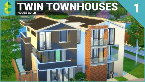 The Sims 4 House Building - Twin Townhouses - Part 1