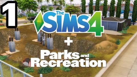 Building The Pit from PARKS & RECREATION in Sims 4 (Part 1)