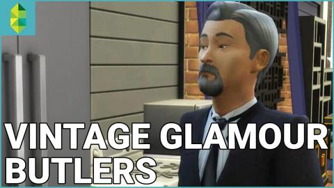 The Sims 4 Vintage Glamour Stuff - Butler Overview
