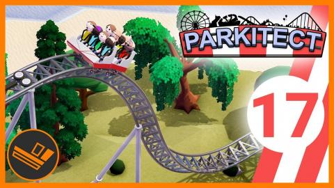 New Park and Vertical Drop Coaster! - Parkitect (Part 17)
