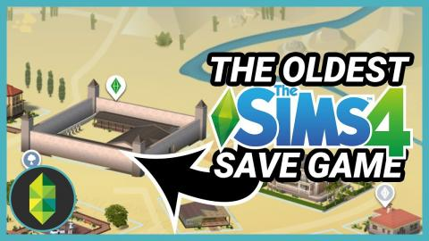 What is in the oldest Sims 4 save game I have?