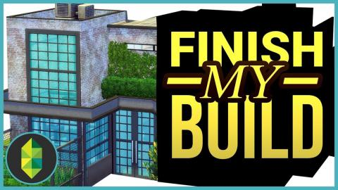 FINISH MY BUILD Challenge with Deli | The Sims 4