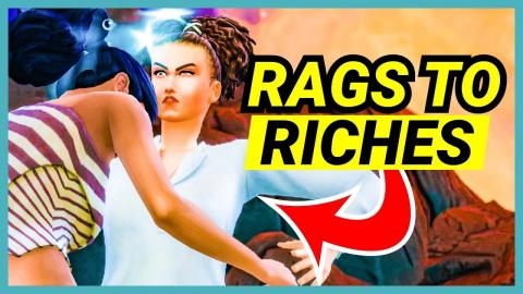 Cleaning up the island by punching Sims! - 🌴 Rags to Riches (Part 5)
