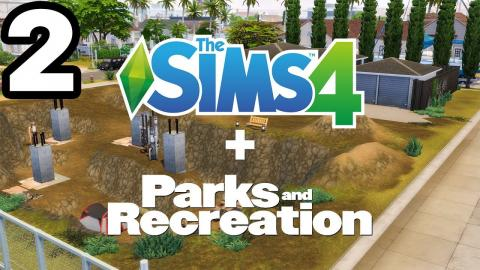 Building The Pit from PARKS & RECREATION in Sims 4 (Part 2)