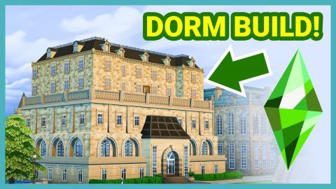 Building a Dorm in The Sims 4 University!