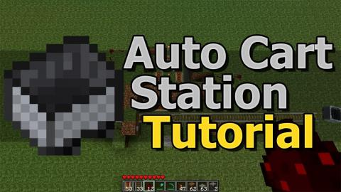Minecraft: Automatic Cart Station Tutorial [1.5 Beta Only]