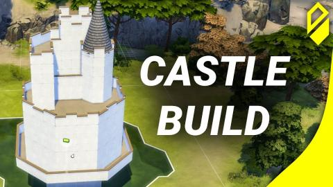 Building a Castle for Deligracy to furnish in The Sims 4 (Build Swap)