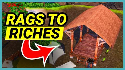We're builing a hut - 🌴 Rags to Riches (Part 6)