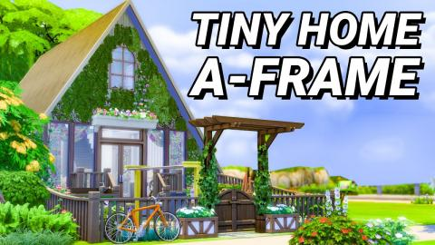 Tiny Home, A-Frame Style! (Sims 4)