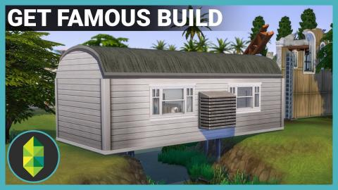 The Sims 4 GET FAMOUS Build Using Terrain!