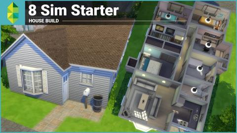 The Sims 4 House Building - 8 Sim Starter