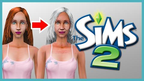 Nina is going to be an ELDER in less than 24 hours! (Sims 2)