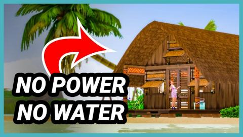 This house has no power and no water! (Sims 4 Build)