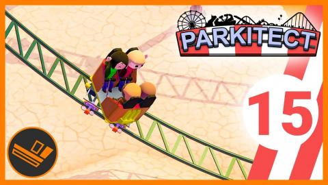 Spinning Coaster! - Parkitect (Part 15)