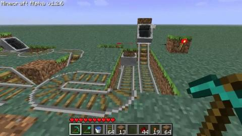 Minecraft: Automatic Cart Station Tutorial [Alpha 1.2 - Beta 1.5]