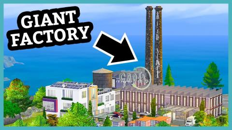 Someone built a HUGE factory in The Sims 4 (Your Gallery Builds)