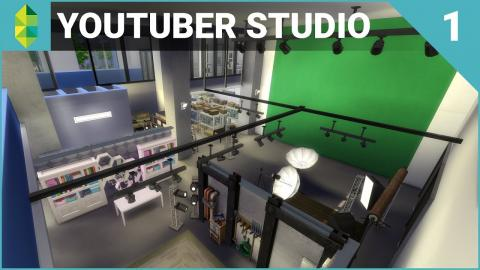 The Sims 4 Building - YouTuber & Streamer Studio (Part 1)