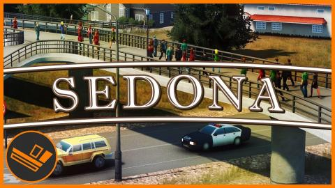 Sedona - Part 63 | NEW TRAIN LINE (Cities: Skylines)