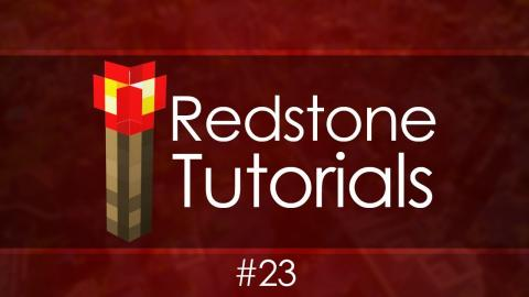 Redstone Tutorials - #23 Hidden Staircase Entrance