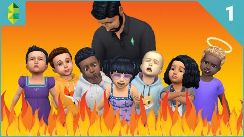 The Sims 4 - SEVEN Toddler Challenge - Part 1