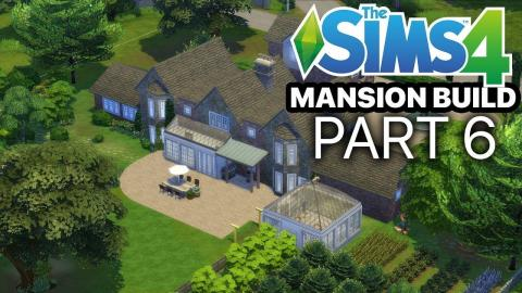 The Sims 4 - MANSION BUILD - Part 6 (Bathroom & Study)