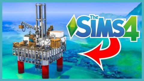 I built an offshore OIL RIG in The Sims 4 (Sims 4 Build)