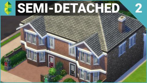 SEMI-DETACHED British Home (PART 2) | The Sims 4 House Building