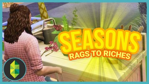 FIRST ORCHID ARRANGEMENT - Part 33 - Rags to Riches (Sims 4 Seasons)