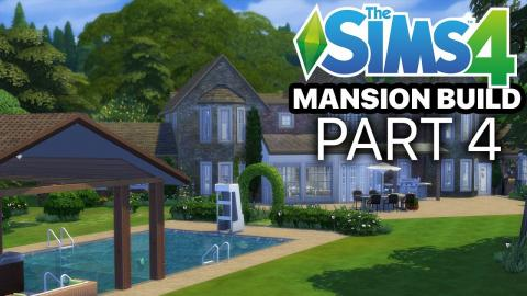 The Sims 4 - MANSION BUILD - Part 4 (Greenhouse & Workshop)