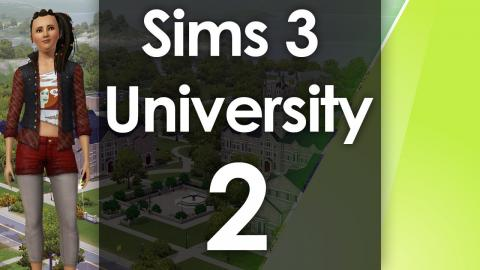 Let's Play The Sims 3 - University Life - Part 2
