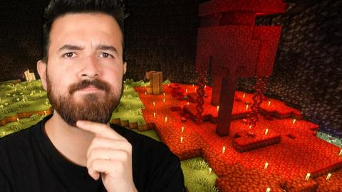 Turning the inside of the volcano into the Nether! - Minecraft 1.16 (Part 17)