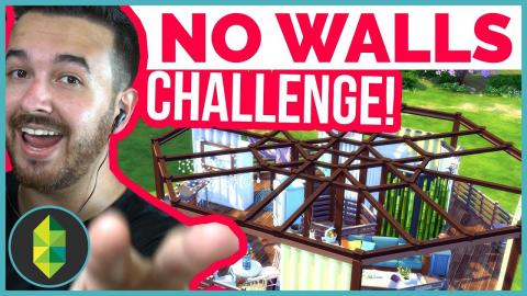 NO WALLS Build Challenge (Treehouse) | The Sims 4
