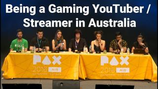 PAX Aus - Being a Gaming Youtuber in Australia Panel
